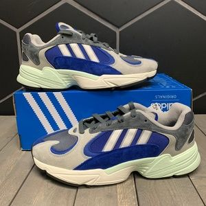 New Adidas Yung-1 Alpine Blue Grey Running Shoes